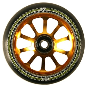 AO Mandala 10 Hole 100mm Scooter Wheel - Gold