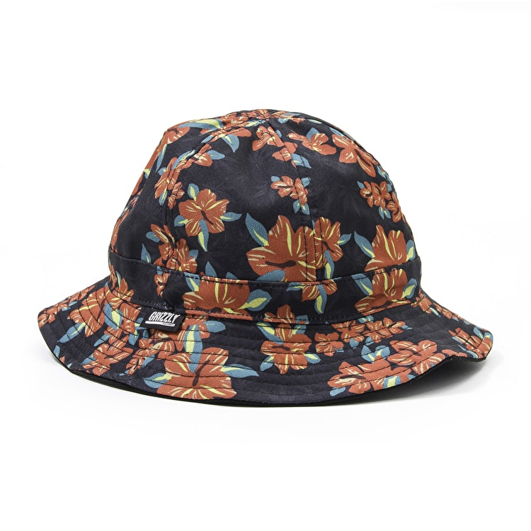 Grizzly Tropical High Reversible Hat - Black