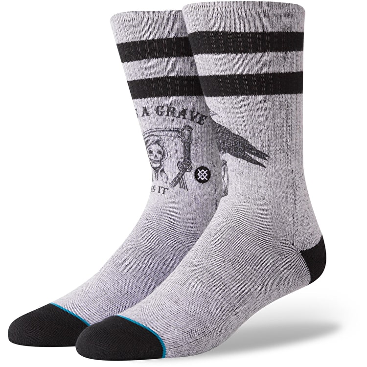 Stance Lifes A Grave Socks - Grey