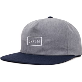 Brixton Rift MP Cap - Heather Grey/Navy