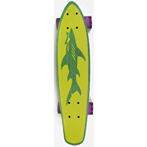 Maui and Sons Champ Micro Kicktail Cruiser - Green/Blue