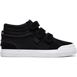 DC Evan Hi V Boys High Top Skate Shoes - Black/White