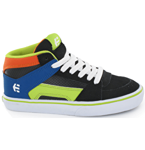 Etnies RVM Kids Skate Shoes - Black/Orange/Navy
