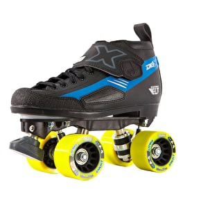 Crazy Skates DBXJ Adjustable Junior Derby Roller Skates - Blue