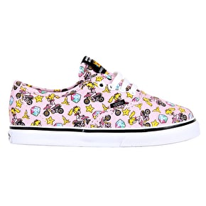 Vans Authentic Todder Shoes - (Nintendo) Princess Peach/Motorcycle