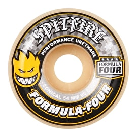 Spitfire Formula Four Conical 99D Skateboard Wheels - Yellow 54mm (Pack of 4)