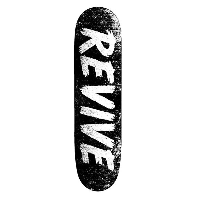 ReVive Scratch Skateboard Deck - Black/White