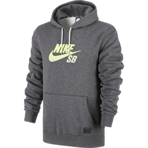 Nike SB Icon Gradient Hoodie - Black Heather/Volt