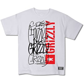 Grizzly Scrawls Cubs T Shirt - White
