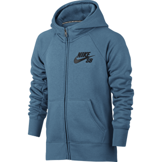 Nike SB Icon Boys Zip Hoodie - Smokey Blue/Anthracite