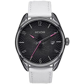 Nixon Bullet Leather Ladies Watch - Gunmetal/White
