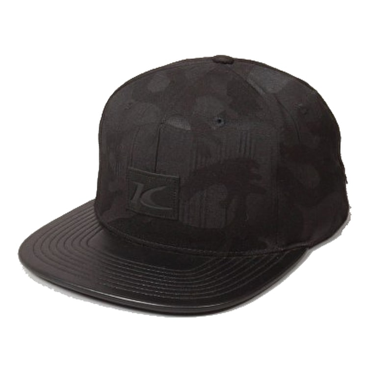 King Apparel Krest Pinch Panel Strapback - Black Camo