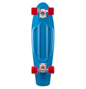 Penny Nickel Complete Skateboard - Blue / White / Red 27