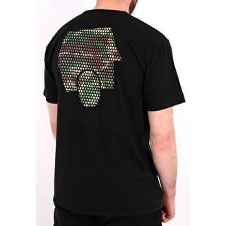 SkateHut Hut Dot Logo T-Shirt - Black/Camo