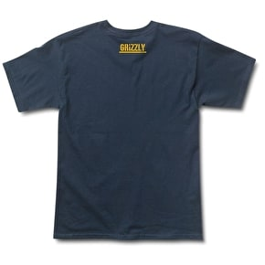 Grizzly Freehand T-Shirt - Navy
