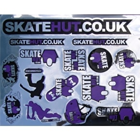 Skatehut Sticker Sheet - Metallic Purple