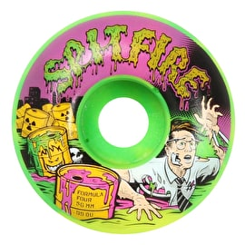 Spitfire Formula Four Toxic Apocalypse Afterburn 99D Skateboard Wheels - Green/Yellow 56mm (Pack of 4)
