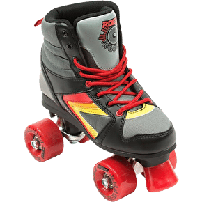 Roces Kolossal Quad Roller Skates - Black/Grey/Yellow