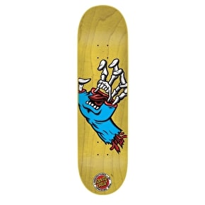 Santa Cruz Hybrid Hand Micro Skateboard Deck - Yellow 6.75