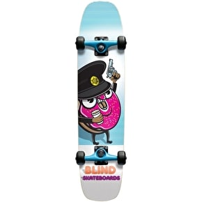 Blind Mini Skateboard - Donut Cop Cruiser White/Blue 7