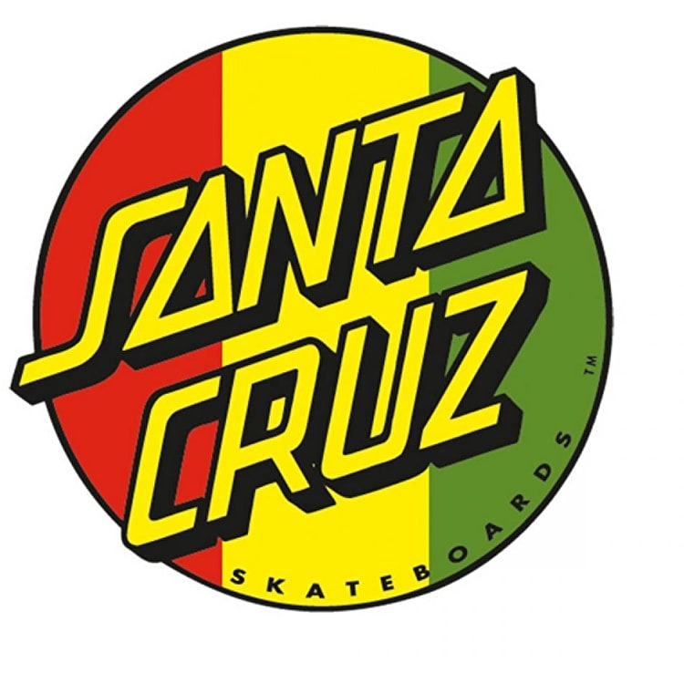 Santa Cruz Classic Dot Sticker - Rasta