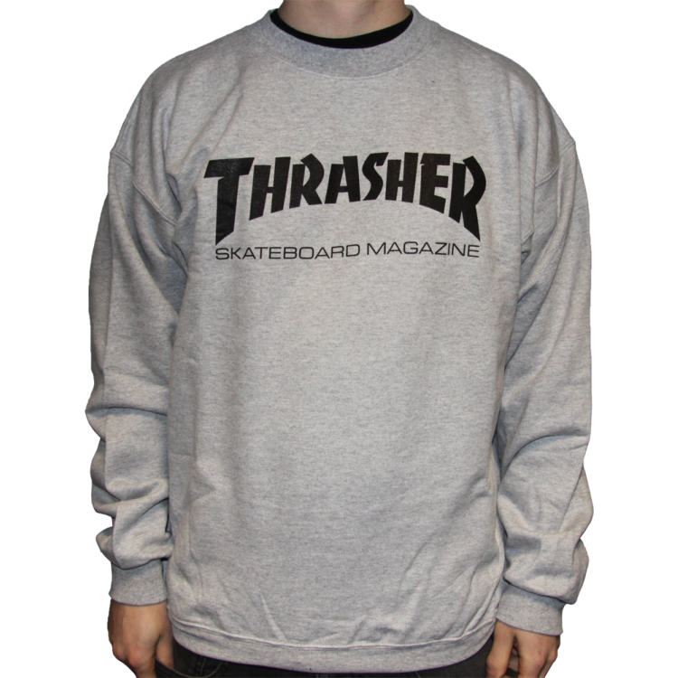 Thrasher Skate Mag Logo Crewneck Sweater - Heather