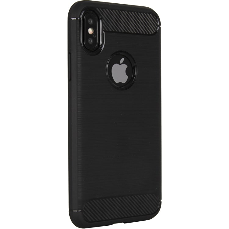 C@se Brushed Carbon iPhone X Case - Black