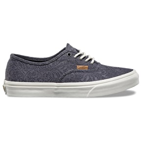 Vans Authentic Slim Shoes - (Motif Floral) Castlerock/Marshmallow