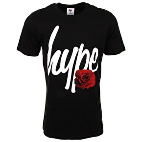 Hype English Rose T-Shirt - Black