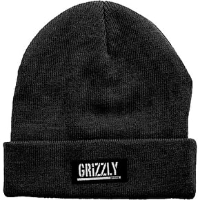 Grizzly Stamp Fold Beanie - Black
