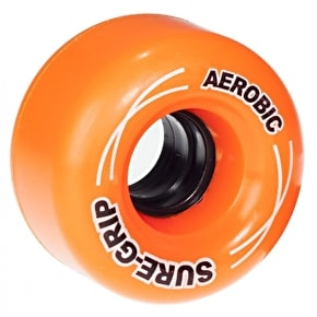 Sure-Grip Aerobic Quad Skate Wheels - Orange 62mm 85A (8 Pack)