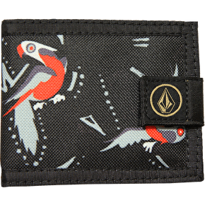 Volcom Circle Stone Cloth Wallet - Sulfur Black