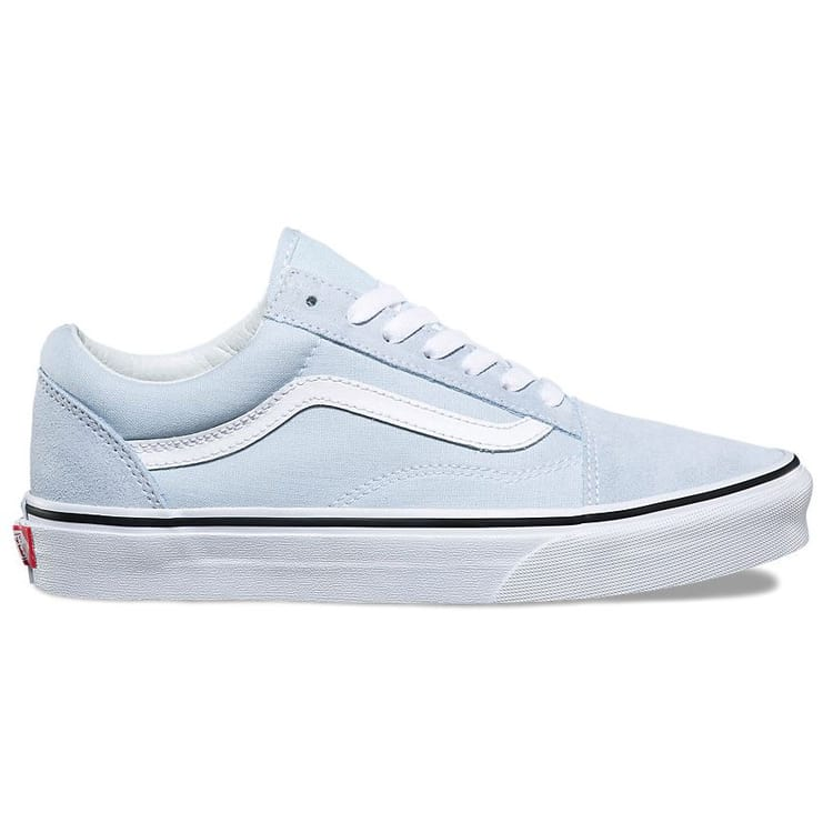 vans old skool baby blue true white