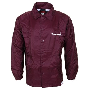 Diamond OG Script Coaches Jacket - Burgundy