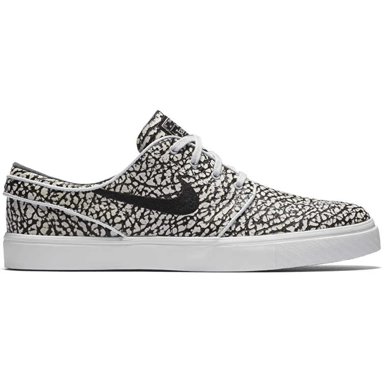 Nike SB Zoom Stefan Janoski Elite Skate Shoes - Pure Platinum/Black