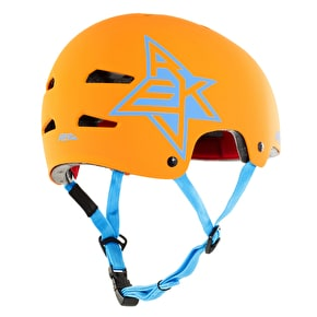 REKD Elite Icon Helmet - Orange/Blue