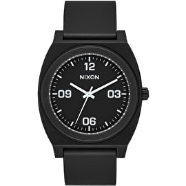 Nixon Time Teller P Corp Watch - Matte Black/White
