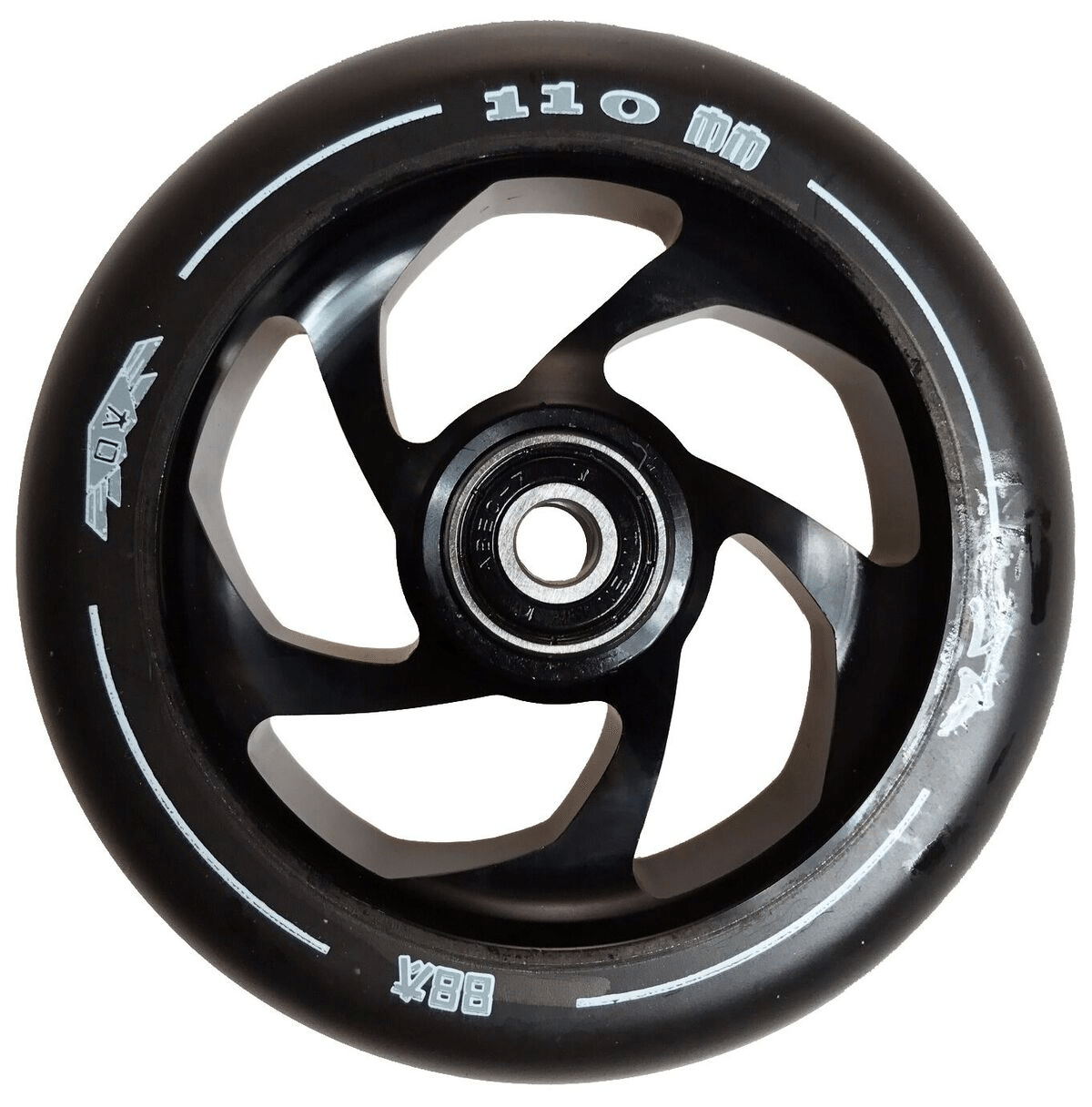 Image of AO Delta 110mm Wheel incl Bearings - Black