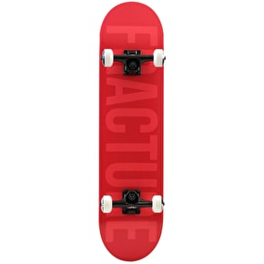 Fracture Fade Complete Skateboard - Red 7.75