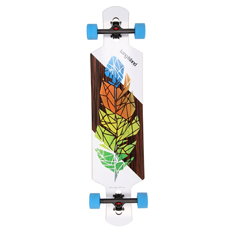 "Long Island Feather 40.4"" Drop-Through Complete Longboard"