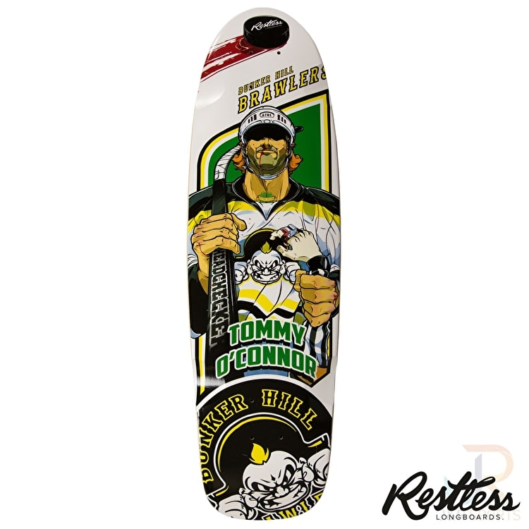 Restless Longboard Deck - RockSteady Brawlers 30.5""