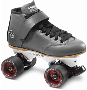 Sure-Grip Isis Avenger Quad Derby Skate Package- Grey