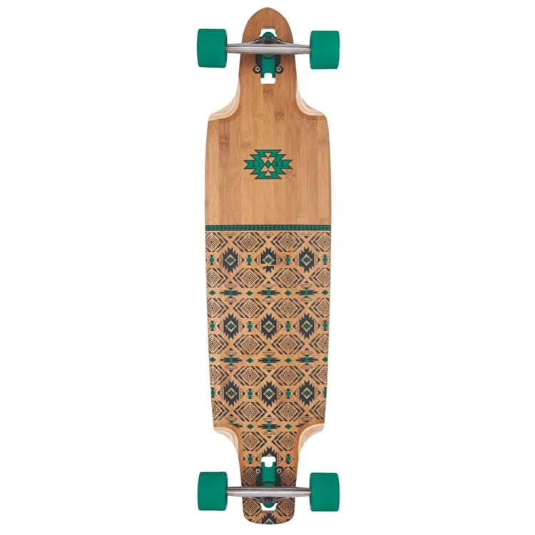 "Globe Spearpoint Bamboo 40"" Complete Longboard - Bamboo/Green"