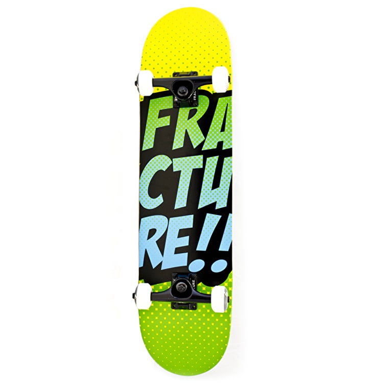 Fracture Skateboard - Comic VT Yellow/Green 7.75""