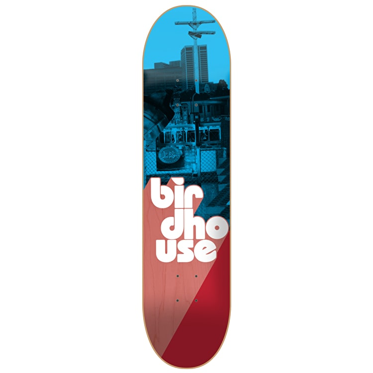Birdhouse Stacked Logo Skateboard Deck - Blue/Red 8""