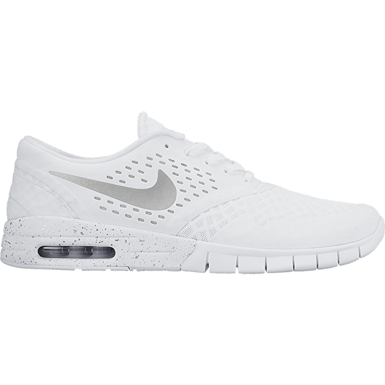 Nike Eric Koston 2 Max Shoes - White/Metallic Silver