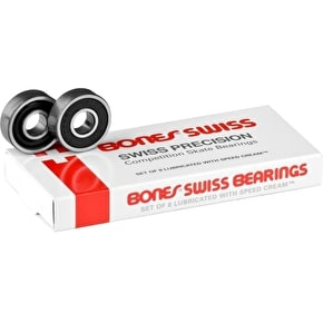 Bones Swiss Black Bearings (Pack of 8)