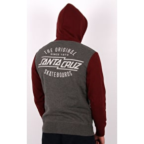 Santa Cruz Original Hoodie - Blood/Charcoal Heather