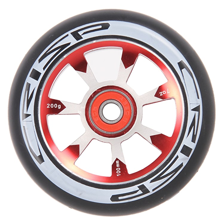 Crisp Hollowtech 100mm Scooter Wheel - Black/Red
