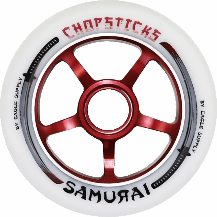 ChopSticks 100mm Samurai Wheel - White PU